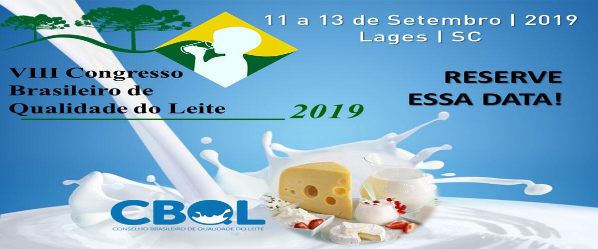 8º Congresso Brasileiro de Qualidade do Leite 2019